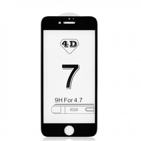 4D Tvrzené sklo pro Apple iPhone 7 - černé