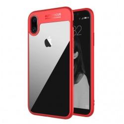 Auto Focus obal pro Apple iPhone X - červený