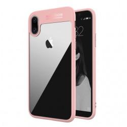 Auto Focus obal pro Apple iPhone X - růžový