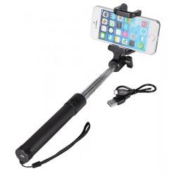 Teleskopická selfie tyč - černá