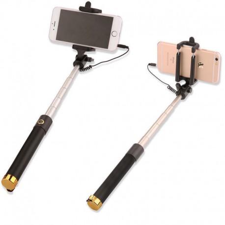 Teleskopická selfie tyč - zlatá