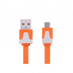 Kabel Micro USB oranžový 2m