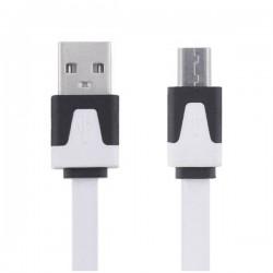 Kabel Micro USB bílý 2m