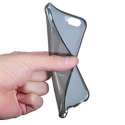 Silikonový kryt pro Apple iPhone 6 Plus - průhledný černý