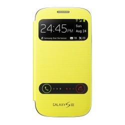 Pouzdro flip S-view pro Samsung Galaxy S3 - žluté