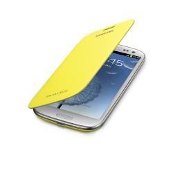 Flipové pouzdro Samsung Galaxy S3 - žluté