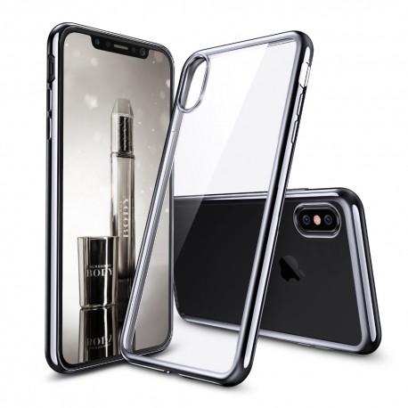 Silikonový kryt pro Apple iPhone X - šedý