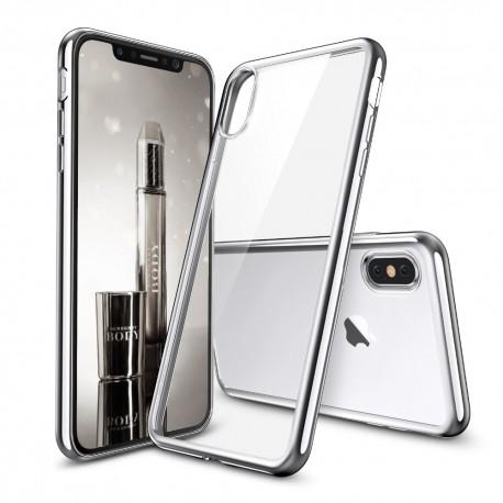 Silikonový kryt pro Apple iPhone X - stříbrný