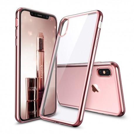 Silikonový kryt pro Apple iPhone X - růžový