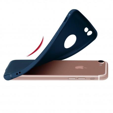 Silikonový kryt pro iPhone 7 Plus - modrý