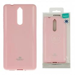Pouzdro Goospery Mercury Jelly pro Nokia 8 - růžový