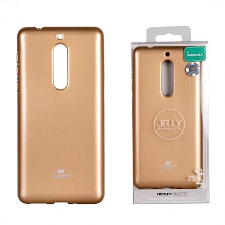 Pouzdro Goospery Mercury Jelly pro Nokia 8 - zlatý