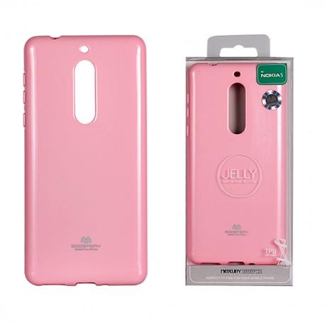 Pouzdro Goospery Mercury Jelly pro Nokia 5 - růžový