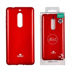 Pouzdro Goospery Mercury Jelly pro Nokia 5 - červený