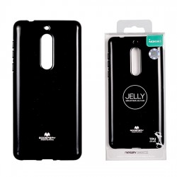 Pouzdro Goospery Mercury Jelly pro Nokia 5 - černý