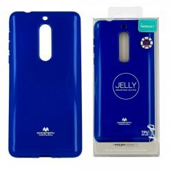Pouzdro Goospery Mercury Jelly pro Nokia 5 - modrý