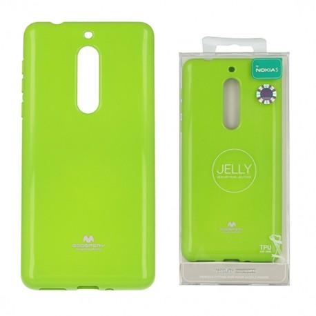 Pouzdro Goospery Mercury Jelly pro Nokia 5 - zelený (lime)