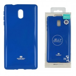 Pouzdro Goospery Mercury Jelly pro Nokia 3 - modrý
