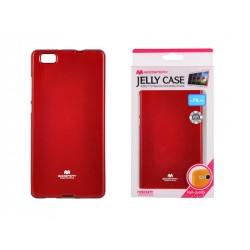 Pouzdro Goospery Mercury Jelly pro Huawei P8 Lite - červený