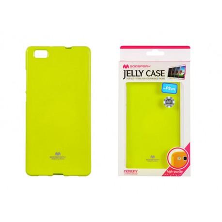 Pouzdro Goospery Mercury Jelly pro Huawei P8 Lite - lime