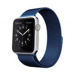 Řemínek pro Apple Watch 42mm magnetický - modrý