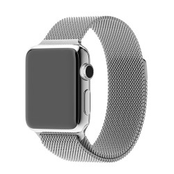 Řemínek pro Apple Watch 38mm magnetický - stříbrný