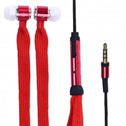 Sluchátka tkaničky červené