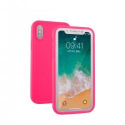 Vodotěsný kryt pro Apple iPhone X - růžový