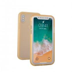 Vodotěsný kryt pro Apple iPhone X - zlatý