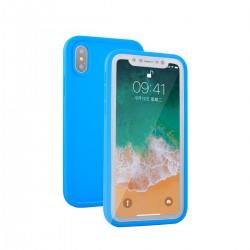 Vodotěsný kryt pro Apple iPhone X - modrý