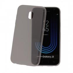 Silikonový kryt pro Samsung Galaxy J3 (2018) - průhledný černý