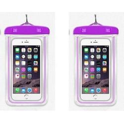 Vodotěsné pouzdro na mobil - fialové