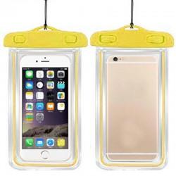 Vodotěsné pouzdro na mobil - žluté