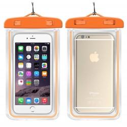Vodotěsné pouzdro na mobil - oranžové