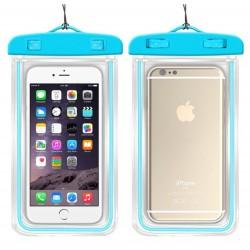 Vodotěsné pouzdro na mobil - modré