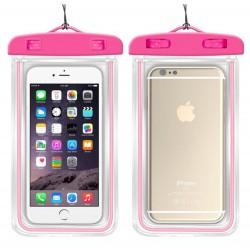 Vodotěsné pouzdro na mobil - růžové