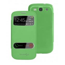 Pouzdro flip S-view pro Samsung Galaxy S3 - zelené