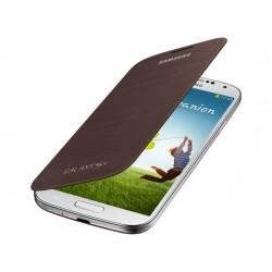Flipové pouzdro Samsung Galaxy S4 mini - hnědé