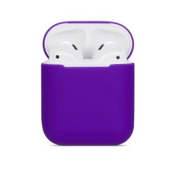 Pouzdro / obal pro AirPods silikonové - fialové