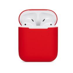 Pouzdro / obal pro AirPods silikonové - červené