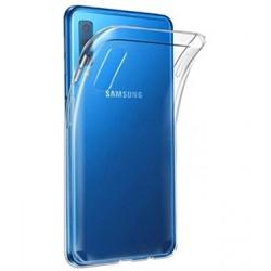Silikonový kryt pro Samsung A7 (2018) - průhledný
