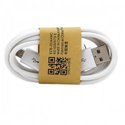 Micro USB datový a nabíjecí kabel bílý 1m