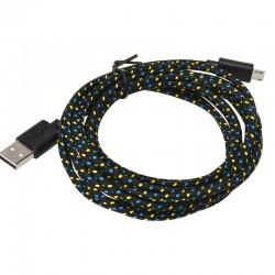 Nylonový odolný kabel Micro USB černý 1m