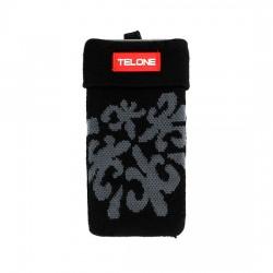 Telone textilní kryt na mobilní telefon 6x12cm - černý s motivem