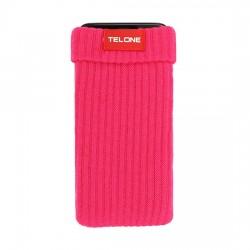 Telone textilní pouzdro na mobilní telefon 7x14cm - růžové