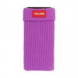 Telone textilní pouzdro na mobilní telefon 7x14cm - fialové
