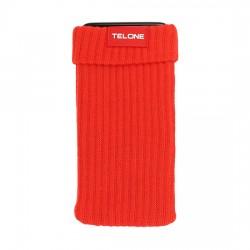 Telone textilní pouzdro na mobilní telefon 7x14cm - Červené