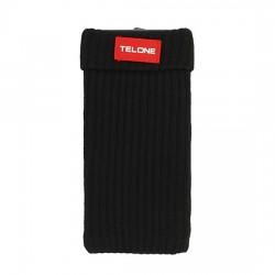Telone textilní pouzdro na mobilní telefon 7x14cm - černé