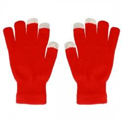 Rukavice pro ovládání dotykových zařízení - červené