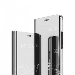 Zrcadlové pouzdro Clear View pro Apple iPhone Xr - stříbrné
